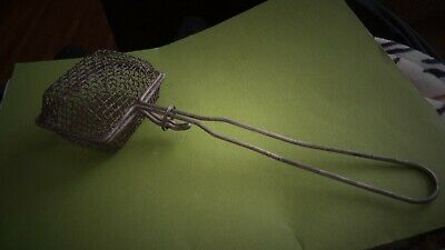 Antique Metal Soap Saver Wire + Mesh Basket Kitchen---Laundry Tool C: 1800 Org