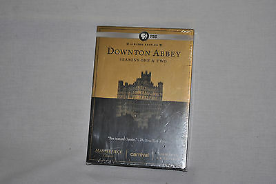 DOWNTON ABBEY Seasons One & Two (1 & 2) Original UK Ed 6 DVD -SEALED - FREE Ship
