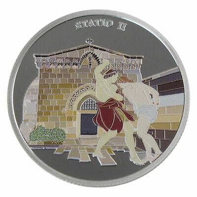 1 Oz silver.999 Medal - Via Dolorosa Stations - Jesus Carries Cross