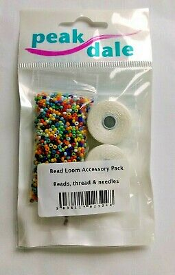 Peak Dale Bead Loom Refill Accessory Pack Inc. Beads Thread Needles New