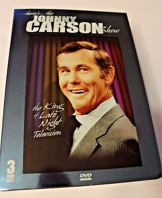 The Johnny Carson Show, DVD set, 3 discs KING OF LATE NIGHT TV NEW 2005