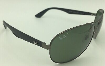 3cdabc8a14f RAY BAN RB 3544 CHROMANCE Sunglasses 029 6O Gunmetal   Green ...
