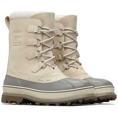 New Sorel Caribou Boot Mens Oatmeal Winter Snow Lined Waterproof Insulated Warm