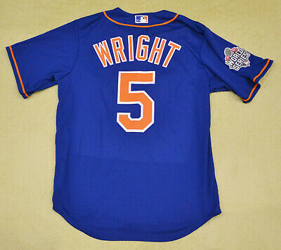 the latest f4093 34460 MEN'S DAVID WRIGHT New York Mets MLB Majestic blue jersey size MEDIUM