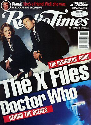 Radio Times 16-22 March 1996 (London) Doctor Who The Movie The X Files