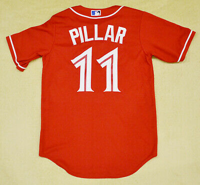 eeea76c5ce7 Men s Kevin Pillar Toronto Blue Jays MLB Majestic red jersey size SMALL