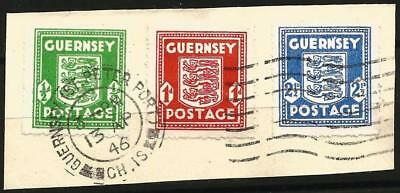 Germany (Third Reich) Channel Islands Occupation 1941 Used - Guernsey Defins Set