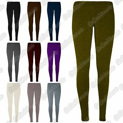 Kids Girls Plain Basic Stretch Full Length Skinny Tight Leggings Trouser Pants