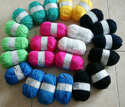 24x50g Strickwolle,WOLLE Rellana Caprice 8 Farben MIX