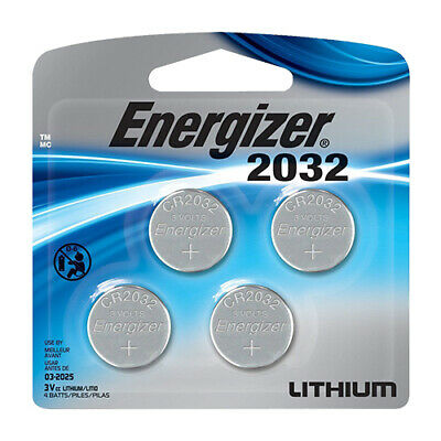Energizer CR2032 Batteries 3V Lithium Coin Cell Battery 4 Pack