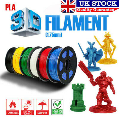 1.75mm -1KG 3D Printer Filament PLA Various Colours Makerbot White Black UK