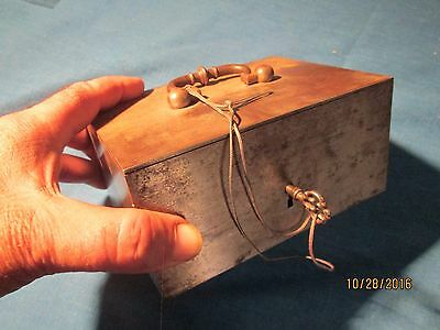 Steel Money Box With Key  -  Possibly  18Th Century -   #1
