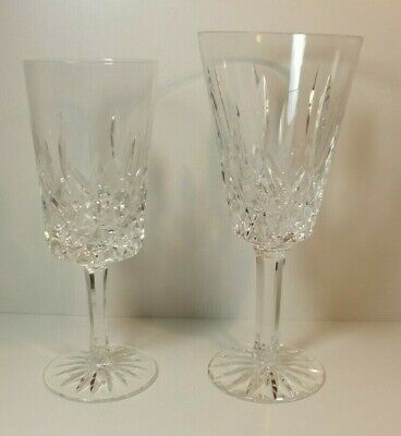 "Mixed Lot 2 Tyrone Irish Crystal Wine Glasses 6 3/4"" & 7 1/4"" MS31"