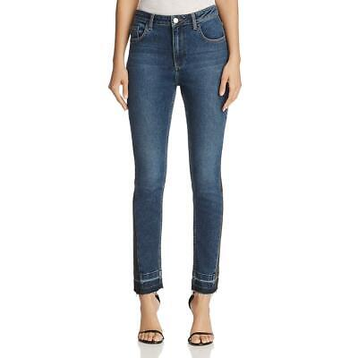 French Connection Womens Blue Skinny Mid-Rise Cropped Jeans 4 BHFO 4999