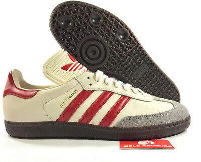 7eb9e88a1 NEW adidas SAMBA CLASSIC OG SHOES Luzhniki CQ2216 Chalk White / Scarlet Red  x1