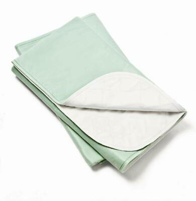 2 REUSABLE WASHABLE UNDERPADS BED PADS 34x36 HOSPITAL GRADE INCONTINENCE GREEN