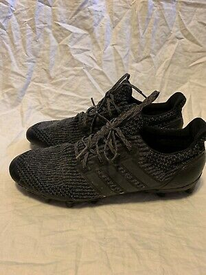 c0dbbc90de0a8 Adidas ULTRA BOOST Cleats Triple Black Football Men s Size 14 Primeknit Mesh