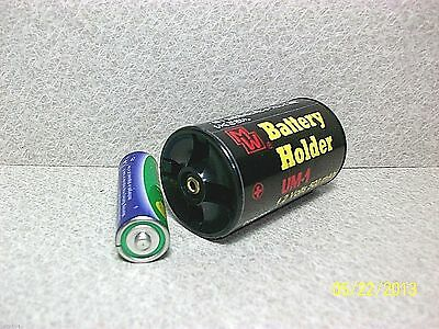 1.5 Volt DC BATTERY ADAPTER TO D SIZE BATTERY (4 per package) B4