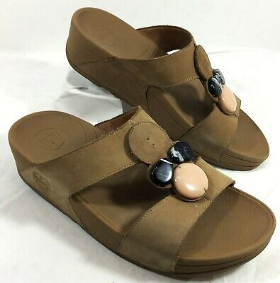 2ff64a64d62 NEW WOMENS FITFLOP FIT FLOP Sz 6 Halo Rose Gold Pink Sandals Flip ...
