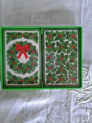 """Hallmark Bridge Playing Cards - """"Holly"""", New in Packaging"""