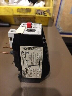 Siemens 3UA5000-1A 1-1.6A THERMAL OVERLOAD RELAY
