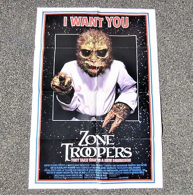 ZONE TROOPERS 1985 Original Sci-Fi Movie Cinema Film Australian Promotion Poster