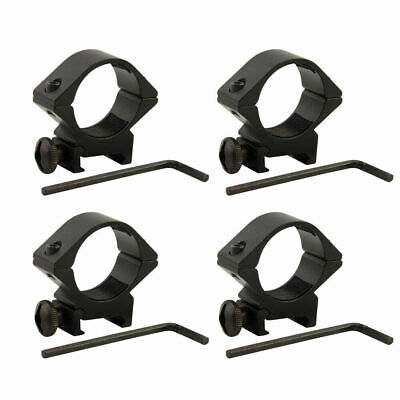 4pcs 30mm Ring Low Profile QD Scope Laser Flashlight Clamp Mount for 20mm Rail