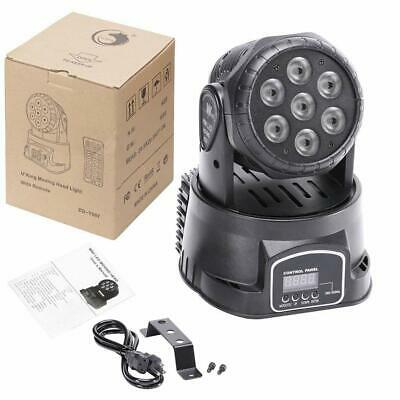 U`King Stage Lighting Moving Head Light 7 LEDsx10 W 4 Color RGBW with DMX...