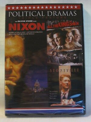 Political Dramas Triple Feature: Nixon/All the Kings Men/Storyville (DVD) NEW!
