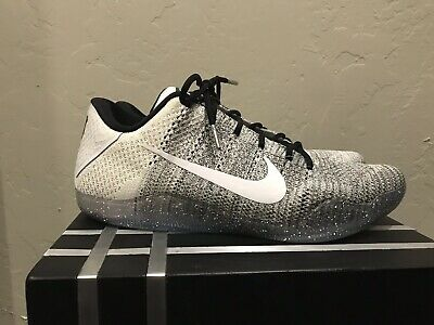 675e1c0e7e97 Nike Kobe XI 11 Elite Low Basketball Shoes Men s Size 11 Oreo Beethoven  Flyknit