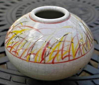 Peter Wallace Early Pottery Vase Signed 1990