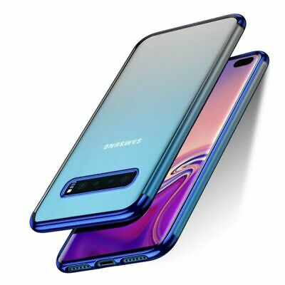 Plating Hybrid Rubber Clear Slim Case Cover For Samsung Galaxy S10 Plus S10E S10