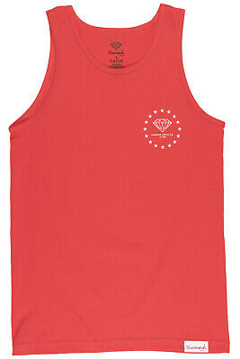 c1191e2efd632 DIAMOND SUPPLY CO. Red Boxed in Tank Top Mens Shirt Size Medium Red ...