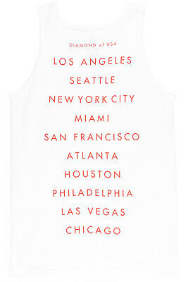 7a679dc9c2cb53 DIAMOND SUPPLY CO US Cities Tank Top Muscle Shirt Mens Red -  18.99 ...