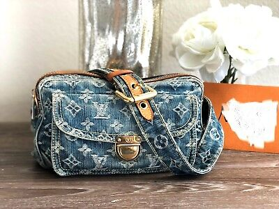 d7d6465e7b9 LOUIS VUITTON BUMBAG (ULTRA RARE) Monogram Blue Denim Cross Body Bag