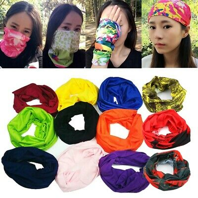 Unisex Magic Head Scarf Windproof Bandana Headwear Bicycle Hijab Sunshade Collar