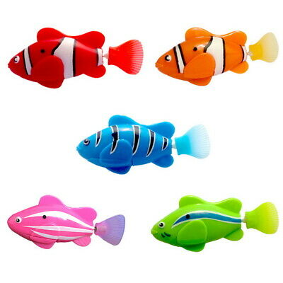 Electric Swimming Fish Pet Toys Artificial Clownfish Magical Kids Gift