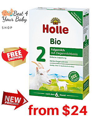 HOLLE Goat Stage 2 Baby Formula Bio Milk 100% Organic 400g Exp 05/20 BEST PRICE