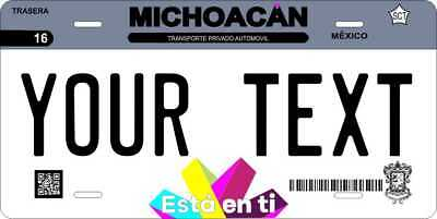 Michoacan 2016  Mexico License Plate Personalized Car Auto Bike Motorcycle Tag