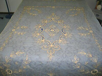 Antique Tambour Lace Bedspread~Coverlet Handmade Repurpose Vintage Bridal lace