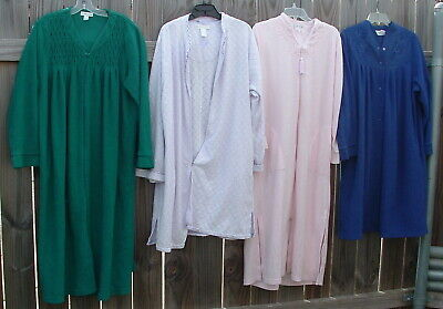 4 pc Lot Vintage Cotton Terry Cloth Robes FLAWS CUTTER Miss Elaine Eileen West