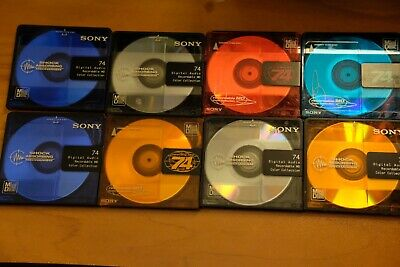Sony MiniDiscs Lot (8 Discs) 74 Minutes COLORS
