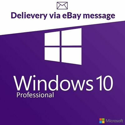 Microsoft Windows 10 Pro Professional Genuine 32/64-bit Activation Product Key