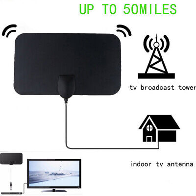 Super Antenna HD High Definition Free TV Fox HDTV DTV VHF Scout Style 50 Mile UK