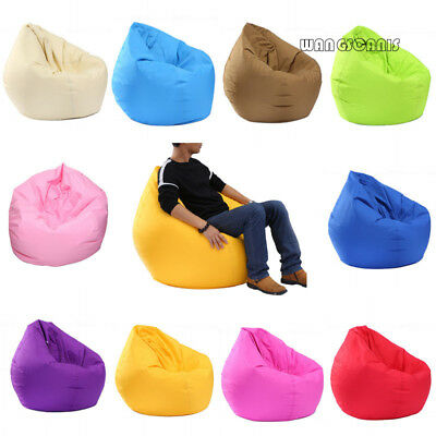 1Pc Outdoor Adult Large Gamer Bean Bag Cover Gaming Beanbag Big Arm Chair Garden