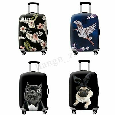 "Modish Elastic Travel Luggage Cover Protector Suitcase Dust Proof Bag 18"" ~"