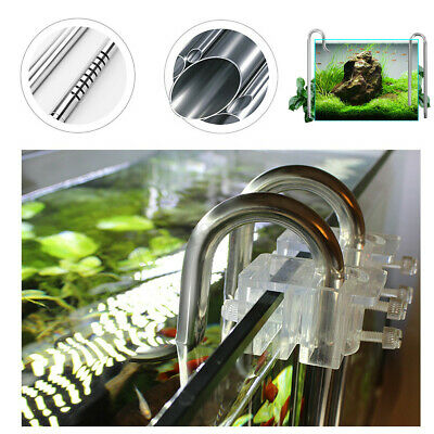 Aquarium Fish Tank Filter Inflow Outflow Lily Pipe Stainless Steel Tube