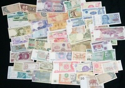 World Banknotes - Bulk Lot of 50 World Banknote Assortment of Notes  Set # 19
