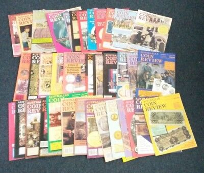 Australian Coin Review Magazines x 37 1992 - 1996 Coin & Banknote Books
