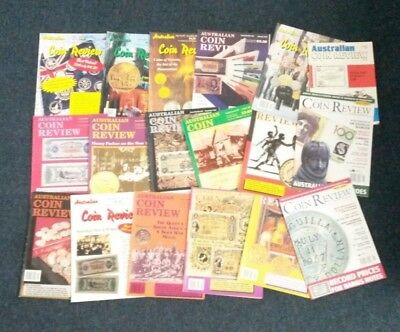 The Australasian Coin & Banknote Magazine Random Years Set of 18 Magazines